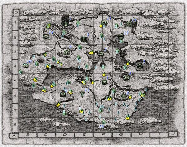 Mapa Completo das Terras Proibidas