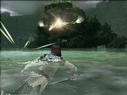 Pelagia disparando rayos