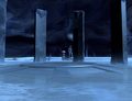 Tekla and Zera discover the Telepod within Planet Ice.png