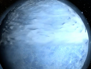 Atmospheric Integrity Shield around planet Ice
