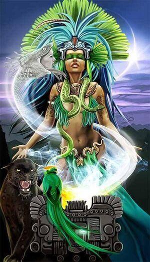 High Priestess (Shadowrun Tarot Card)