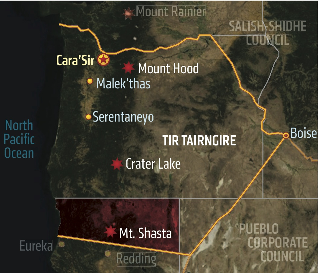 Shadowrun America Map.Tir Tairngire Shadowrun Wiki Fandom Powered By Wikia