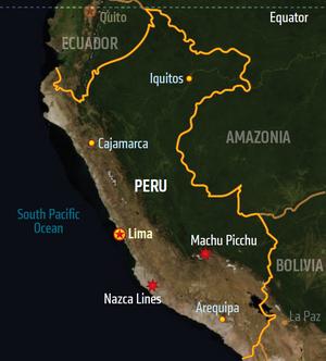 Peru, map (Shadowrun Sourcebook, Sixth World Almanac)