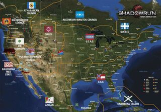 Shadowrun America Map.North America Shadowrun Wiki Fandom Powered By Wikia