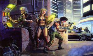 Shadowrunner Scene (Shadowrun 1st Edition Core Rulebook)