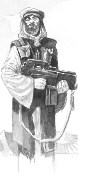 Middle Eastern Gunman (Shadowrun Sourcebook, Shadows of Asia)
