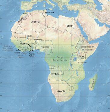 Map africa