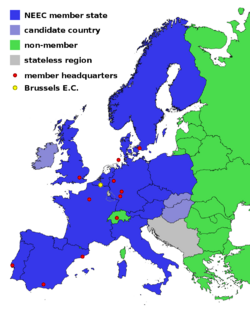 Map Europe NEEC 2073