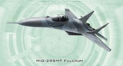 MiG-29SMT Fulcrum from Shadowrun Sourcebook, EuroWar Antiques