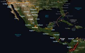 Aztlan, map from Shadowrun Sourcebook, Sixth World Almanac