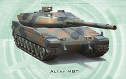 Altay MBT from Shadowrun Sourcebook, EuroWar Antiques