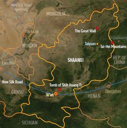 Shaanxi, map from Shadowrun Sourcebook, Sixth World Almanac