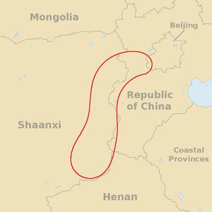 Position Taihang Shan