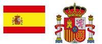 Spanische Flagge und Wappen