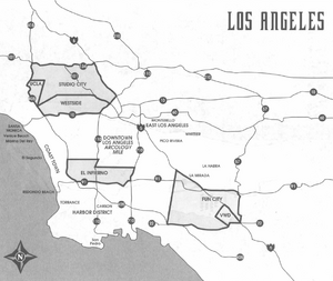 Los Angeles, 2050s from Shadowrun Sourcebook, California Free State