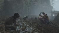 Tokujiro with Monkeys