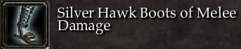 Silver Hawk Boots of Melee Damage
