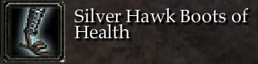 Silver Hawk Boots of Health