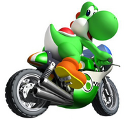 Yoshi on Bike