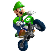 Luigi on a Dirt Bike