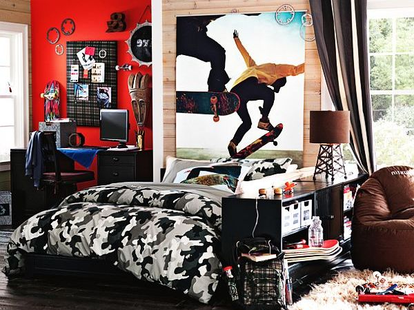 Camo Ultimate Teenage Boys Bedroom  Luxury Bedside Furniture Ideas Sets Decorating Paint Colors Modern Wallpaper Interior Lighting  Decor Design