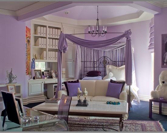 Purple Teen Girls Room Idea