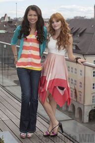 97343 Preppie Bella Thorne and Zendaya Coleman posing for a photo shoot on a hotel in Munich 13 122 517lo