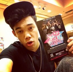 Roshon-fegan-with-dance-awards-flyer