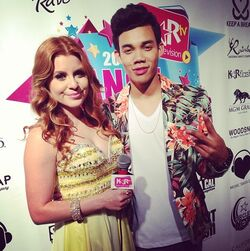 Roshon-fegan-with-cohost-at-the-dance-awards-2013