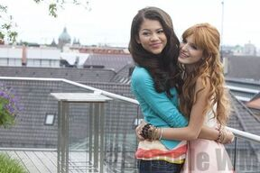 93227 Preppie Bella Thorne and Zendaya Coleman posing for a photo shoot on a hotel in Munich 22 122 464lo