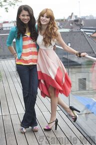 96974 Preppie Bella Thorne and Zendaya Coleman posing for a photo shoot on a hotel in Munich 21 122 573lo