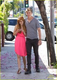 Bella-thorne-with-tristan-in-pink-dress