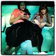 Bella and Daya chilling