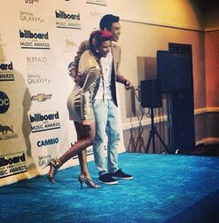 Roshon-fegan-at-billboardmusicawards-with-someone