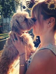 Bella-thorne-with-her-puppy