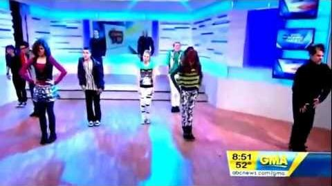 Cast from shake it up on GMA!!!!!-0