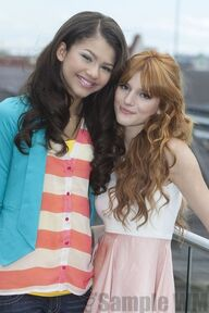 95369 Preppie Bella Thorne and Zendaya Coleman posing for a photo shoot on a hotel in Munich 9 122 147lo