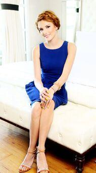 Bella-thorne-braided-hair-blue-dress