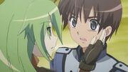 Pheles touching Yuji