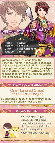 Goyo - Character description