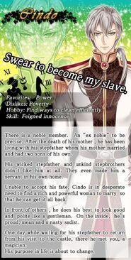 Cindo character description (1)
