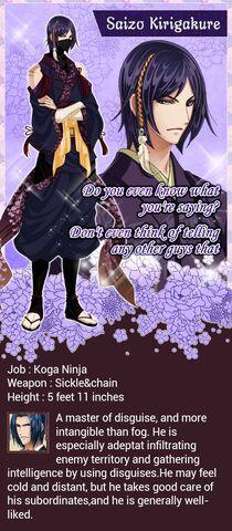 Saizo Kirigakure character description (1)