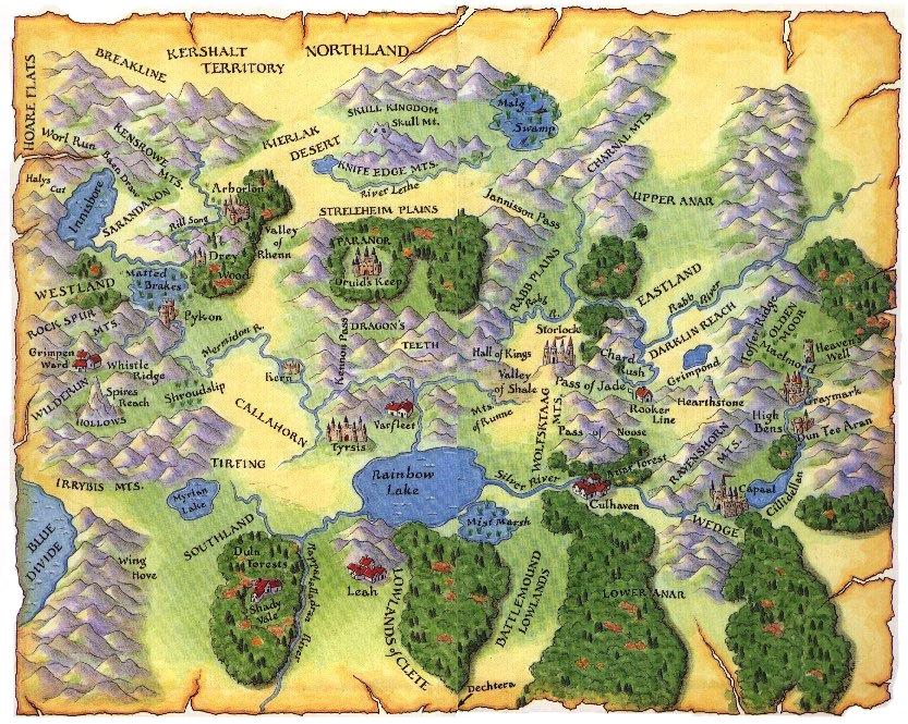 Map Of Shannara Four Lands | Shannara Wiki   Exploring the Magical World of  Map Of Shannara