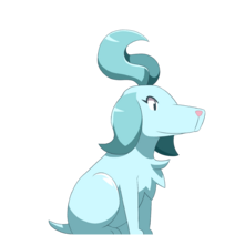 Ghost Half-Genie Princess Dog Render