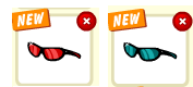 Красные и синие очки профиль