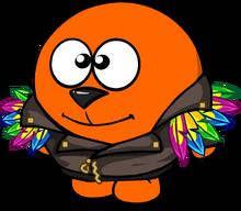 Куртка с перьями на смешарике