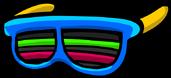 Цветные очки-жалюзи