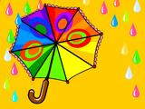 Фон «Цветной дождь»