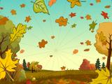 Фон «Осенний гербарий»