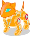 Золотистая кошка-робот